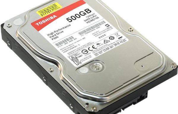 Жесткий диск Toshiba 500 Гб