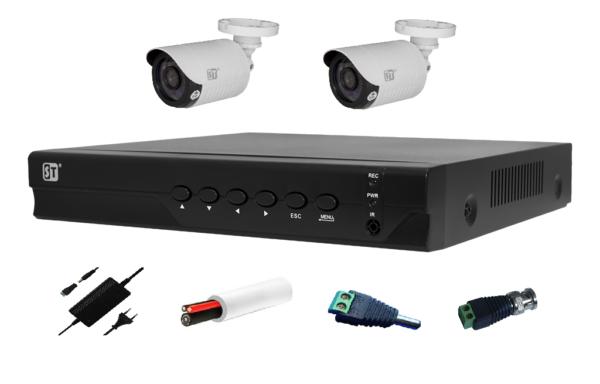 Комплект видеонаблюдения на 2 камеры 1 Мп