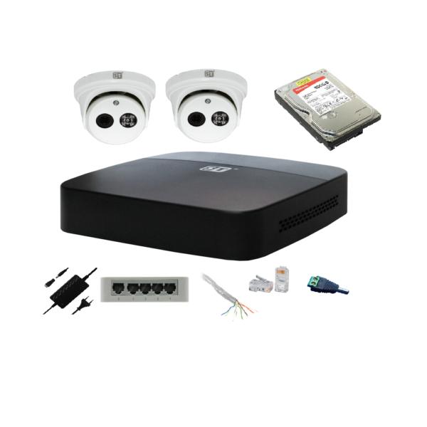 Комплект видеонаблюдения из 2 IP камер