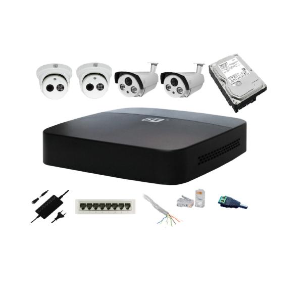 Комплект видеонаблюдения 4 IP 2 Mp