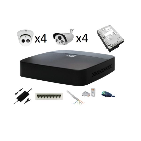 Комплект видеонаблюдения 8 камер IP